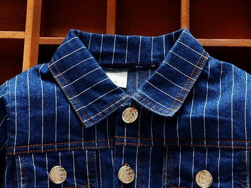 Picture of High Quality Stylish Denim Stripe Jacket for Kids