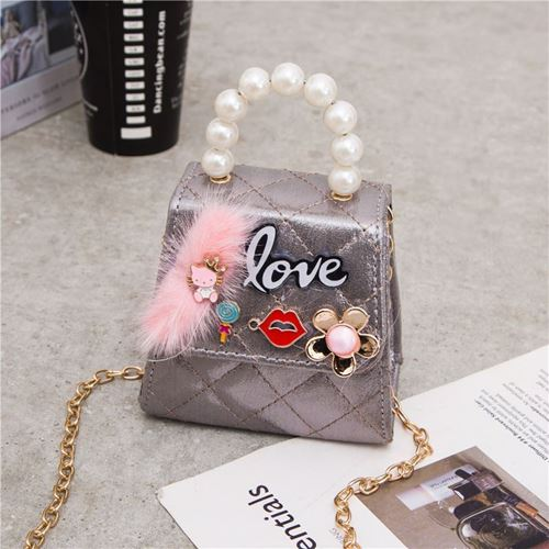 Picture of Fashion Adorable Princess Pearl Little Sling Bag for Kids Girls