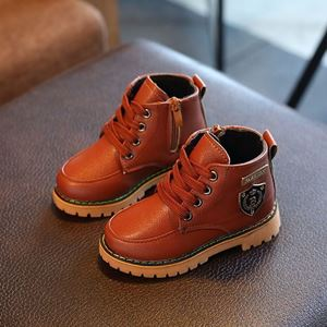 Picture of Kids Fashion High Cut Lace Up Leather Boot