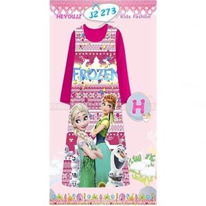 Picture of Frozen Pattern Long Dress Sleepwear For Kids (2-7y)