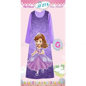 Picture of Sofia Pattern Long Dress Sleepwear For Kids (8-13y)