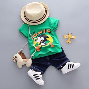 Picture of Sonic Printed Short Sleeve Shirt and Pant Two-Piece Set
