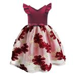 Picture of Graceful Floral Lace Sleeveless Zipper Back Princess Dress
