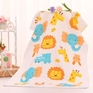Picture of Adorable Cotton Gauze Bath Kids Cartoon Towel