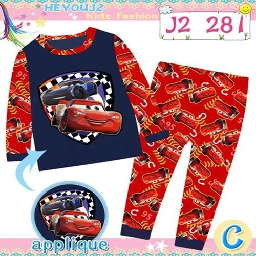 Picture of 2-Piece Car Printed LongSleeve Casual Wear Clothing Set(3-7y)