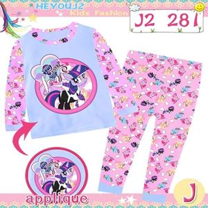 Picture of 2-Piece Pony Printed LongSleeve Casual Wear Clothing Set(8-12y)