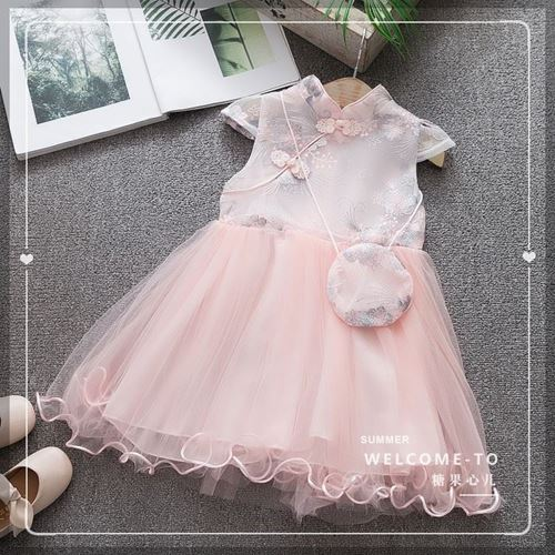 Picture of Style Cheongsam Floral Lace Sleeve Dress