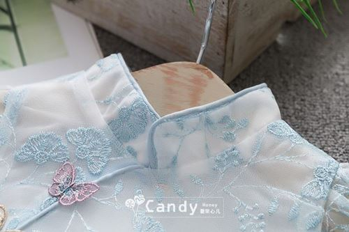 Picture of Butterfly Style Cheongsam Lace Sleeve Dress