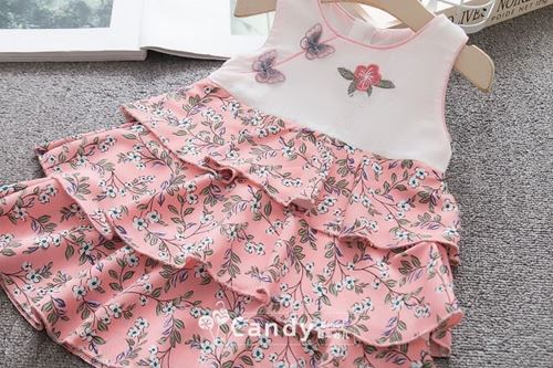 Picture of Style Cheongsam Buterfly Floral Sleeve Dress