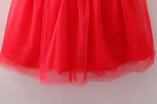 Picture of Chinese Style Floral Lace Sleeveless Princess Dress