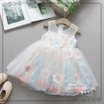 Picture of Elegant Floral Lace Sleeveless Dress for Girls