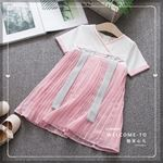 Picture of Korean Style Elegant Embroidery Sleeve Dress