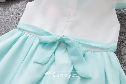 Picture of Style Cheongsam Ribbon Bow Embroidery Sleeve Dress