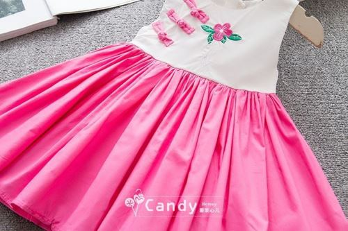 Picture of Style Cheongsam  Embroidery Floral Sleeveless Dress