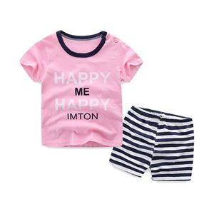 Picture of Pink Printed Short Sleeve Casual Wear Clothing Set