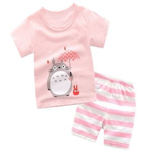 Picture of Family Bear Printed Short Sleeve Casual Wear Clothing Set